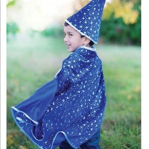 Wizard cape and hat set